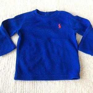 Ralph Lauren Baby Boy Blue Long Sleeve Top T-shirt